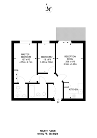 Large floorplan for Omega Building, Smugglers Way, Wandsworth, SW18