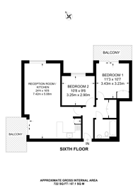 Large floorplan for Osiers Road, Putney, SW18