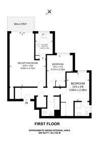 Large floorplan for Putney Hill, Putney, SW15