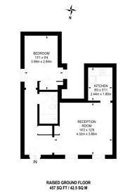 Large floorplan for Courtfield Road, South Kensington, SW7