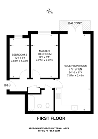 Large floorplan for Gordon Road, Nunhead, SE15
