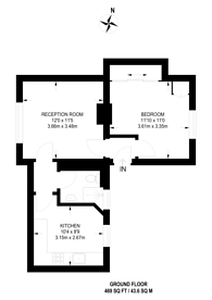 Large floorplan for Albion Avenue, Stockwell, SW8