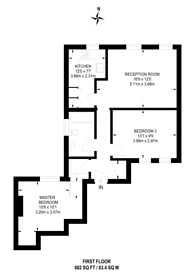 Large floorplan for Granville Road, Southfields, SW18
