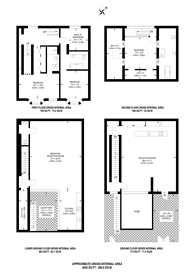 Large floorplan for Lambolle Place, Belsize Park, NW3