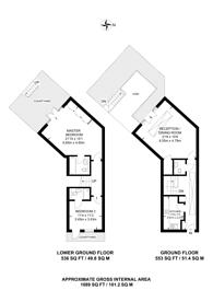 Large floorplan for Percival Mews, Vauxhall, SE11