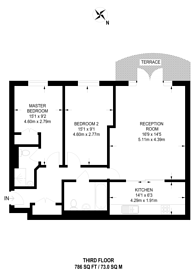 Large floorplan for Park Lane, CR0, Central Croydon, CR0