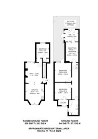 Large floorplan for Dunsmure Road, Stoke Newington, N16