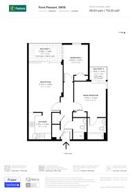 Large floorplan for Point Pleasant, Putney, SW18
