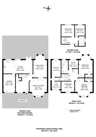 Large floorplan for Allington Road, Hendon, NW4