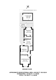 Large floorplan for Honeywood Road, Harlesden, NW10