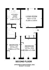 Large floorplan for Brondesbury Park, Brondesbury, NW6