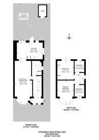 Large floorplan for Warden Avenue, Rayners Lane, HA2