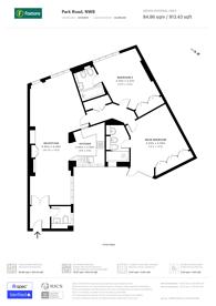 Large floorplan for Strathmore Court, St John's Wood, NW8