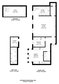Large floorplan for Goldhawk Road, Chiswick, W6