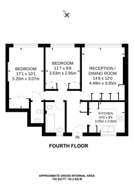 Large floorplan for Shannon Place, St John's Wood, NW8