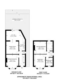 Large floorplan for Tudor Court North, Wembley Park, HA9