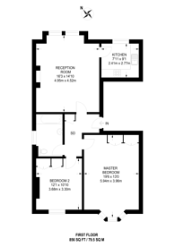 Large floorplan for Parklands, Surbiton, KT5