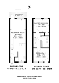 Large floorplan for Bradstock Road, Victoria Park, E9