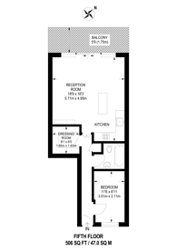 Large floorplan for St Georges Fields, Hyde Park Estate, W2