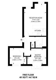 Large floorplan for Viscount Drive, E6, Beckton, E6