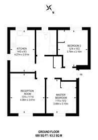 Large floorplan for Rectory Lane, Furzedown, SW17