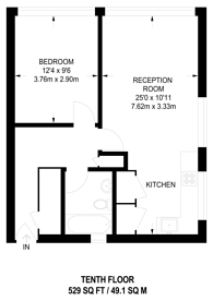 Large floorplan for Mora Street, Old Street, EC1V