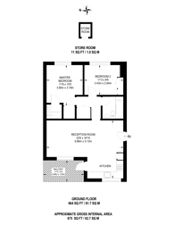 Large floorplan for Beauchamp Road, Clapham Junction, SW11