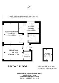 Large floorplan for Redcliffe Gardens, Chelsea, SW10