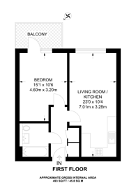 Large floorplan for Craven Park, Harlesden, NW10