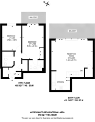 Large floorplan for Chapter Way, Colliers Wood, SW19
