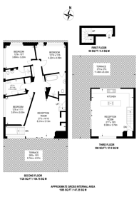Large floorplan for Gransden Avenue, Hackney, E8