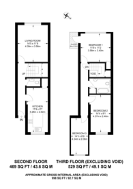 Large floorplan for Besant Way, Neasden, NW10