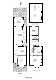 Large floorplan for Kelfield Gardens, North Kensington, W10