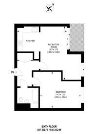 Large floorplan for Drayton Park, Islington, N5