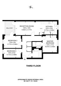Large floorplan for Liberty Bridge Road, Stratford, E15
