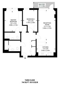 Large floorplan for Osiers Lane, Wandsworth, SW18