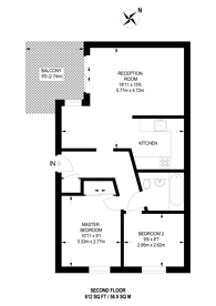 Large floorplan for Pigott Street, Poplar, E14
