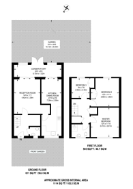 Large floorplan for Tenbury Close, Forest Gate, E7