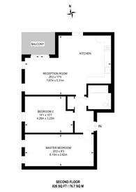 Large floorplan for Hay Currie Street, Poplar, E14