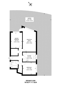 Large floorplan for Garrick Close, W5, Ealing, W5