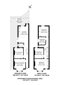 Large floorplan for Wakeman Road, Kensal Green, NW10