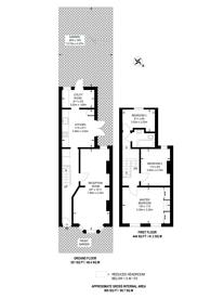 Large floorplan for Rosebery Avenue, Thornton Heath, CR7