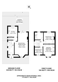 Large floorplan for Elms Avenue, Hendon, NW4