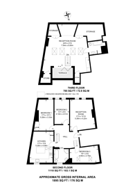 Large floorplan for Dennington Park Road, West Hampstead, NW6