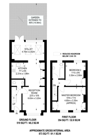Large floorplan for Nelson Road, South Wimbledon, SW19
