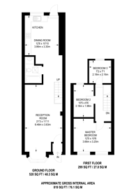 Large floorplan for Exmouth Road, Walthamstow, E17