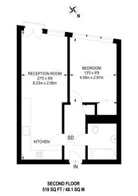 Large floorplan for Wakefield Road, Richmond, TW10