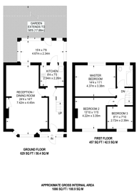 Large floorplan for Lyne Crescent, Walthamstow, E17