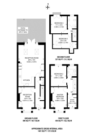 Large floorplan for Bowfell Road, Crabtree Estate, W6