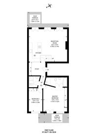 Large floorplan for Trebovir Road, Earls Court, SW5